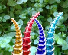 Atolla Lighting | Turn your garden into an intriguing and mystical art piece with these hand blown glass horns. www.atollalighting.com.au
