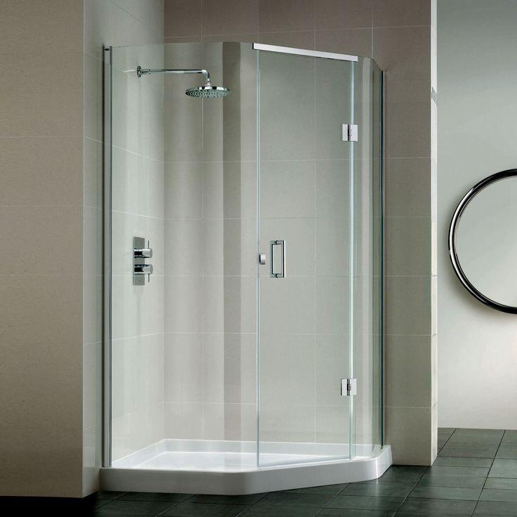 Pinterest\'teki 25\'den fazla en iyi Corner shower enclosures fikri ...