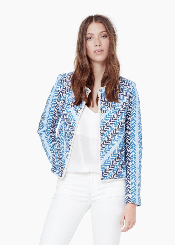 Chaqueta algodón bordado - Chaquetas de Mujer | MANGO