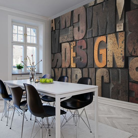 25 beste idee n over industrieel bed op pinterest hoofdbord bed rustiek appartement en - Wallpaper voor hoofdeinde ...