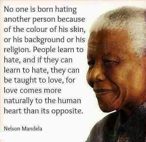 if you learned hate you can be taught love...<3