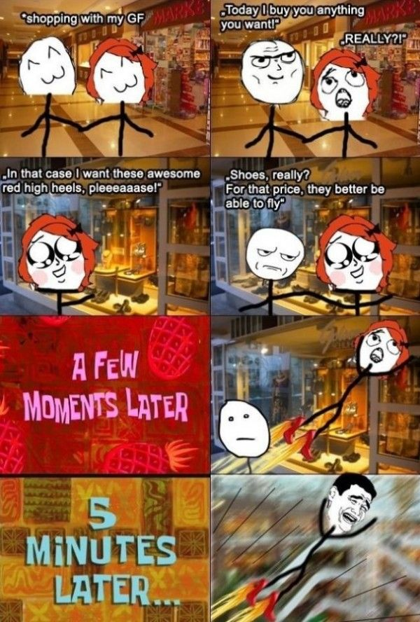 Rage Comics - New Shoes - www.meme-lol.com