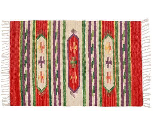 Gehen Sie mit Kelim-Teppich Luca in Rot-Beige-Grün wie auf Wolken. Entdecken Sie weitere tolle Teppiche von Port Maine auf >> WestwingNow