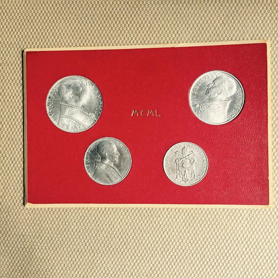 Vatican City Holy Year 1942 4 Coin Mint Set Pope Pius XII