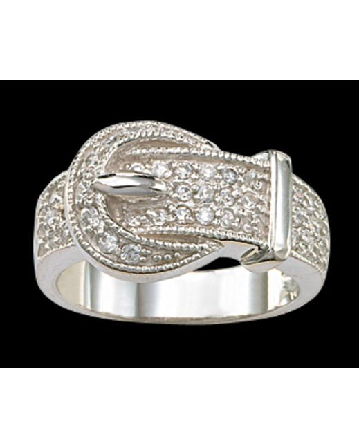 Crystal Buckle Set Ring - By Montana Silversmiths.  Buy at Country Outfitters
