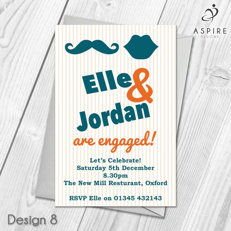 13 best Personalised Engagement Invitations images on Pinterest ...