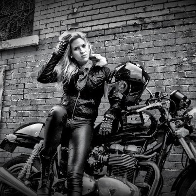 Naked Under Leather Girl On Bike Retro Cool A Bonnie Is