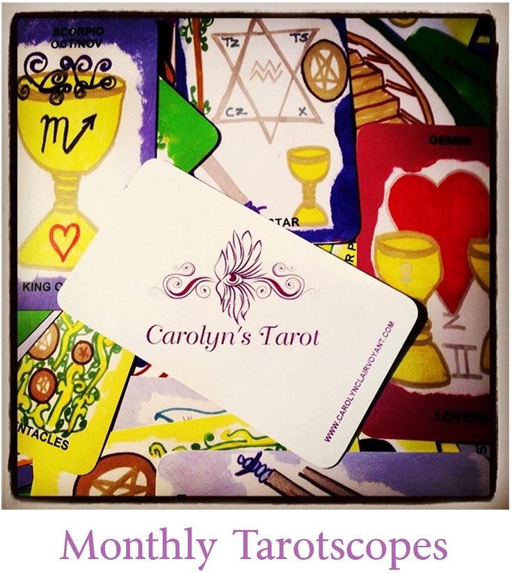 Carolyn's Tarotscopes highlight the influences surrounding your month and cover Home, Family, Career, Goals,Finances, Well Being and Relatonships/Love Carolyn is available world wide for her services via Email, Skype, Tango, Whats App, Viber, Face 2 Face, FB Chat Video, and Phone Readings I have recently released my own Tarot cards, Tarot Book, Predictive Affirmation cards, Playing cartomacy deck, colorology deck sets