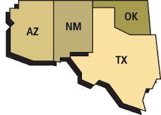 Image result for southwest map