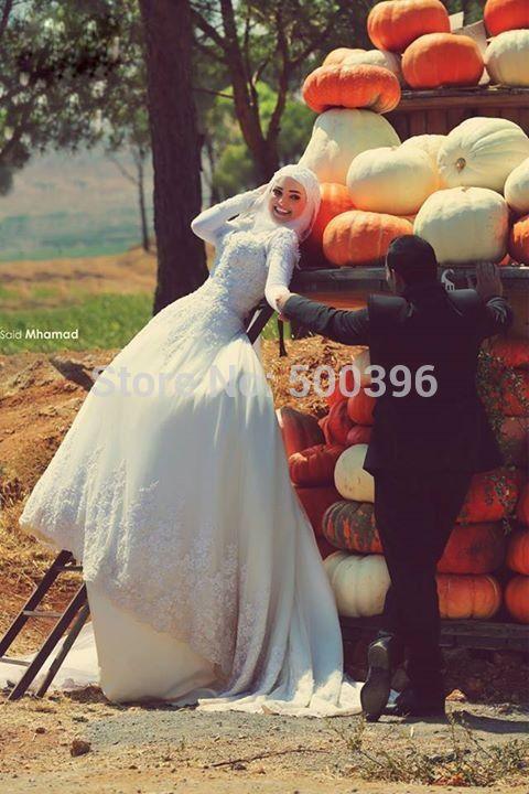 Zoek meer Trouwjurken Informatie over dubai arabische trouwjurk chique 2016 een volledige lijn lange mouwen kant appliques bruids bruidsjurken met pailletten noiva, Hoge Kwaliteit Trouwjurken van Su Zhou Wedding &Events Co,LTD op Aliexpress.com