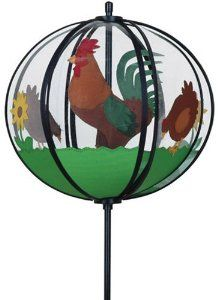 Rooster Ball Spinner   Chicken Garden Decorations: Presents For Chicken  Lovers