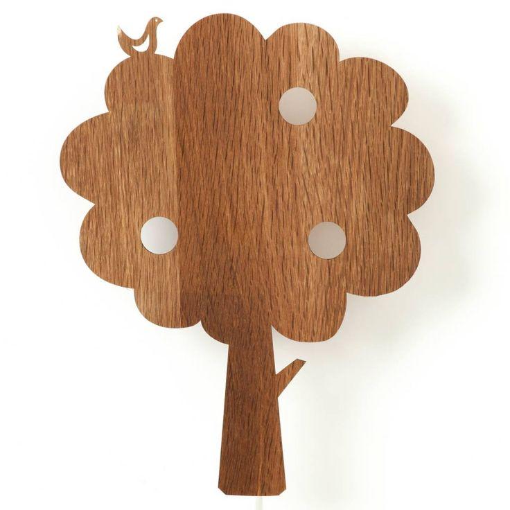 Ferm Living Wandlampe Baum aus Holz, braun, 27x35cm