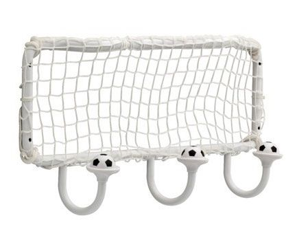 Cashco1000 Soccer Ball and Net Storage Wall Mounted Coat Hook-Kids Room Decor