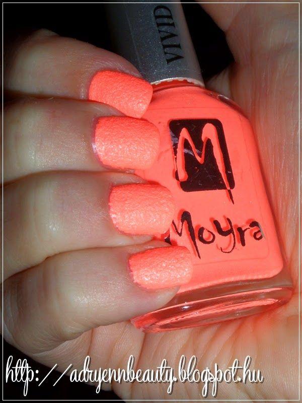 Adryenn Beauty: Moyra Vivid Sand körömlakk - Orange Love