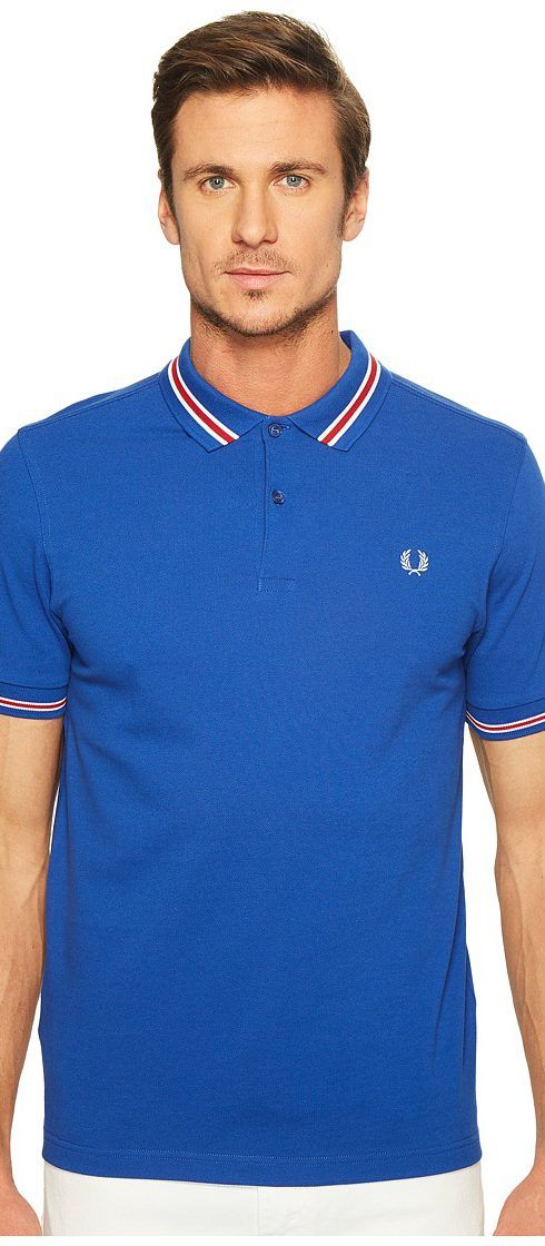 Fred Perry Bomber Stripe Pique Shirt (Regal) Men's Clothing - Fred Perry, Bomber Stripe Pique Shirt, M1578-919, Apparel Top General, Top, Top, Apparel, Clothes Clothing, Gift, - Fashion Ideas To Inspire