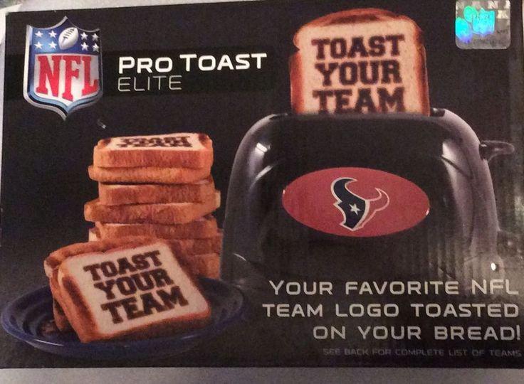 NFL Pro Toast Elite Toaster Houston Texans Football Sports 847504026101 | eBay