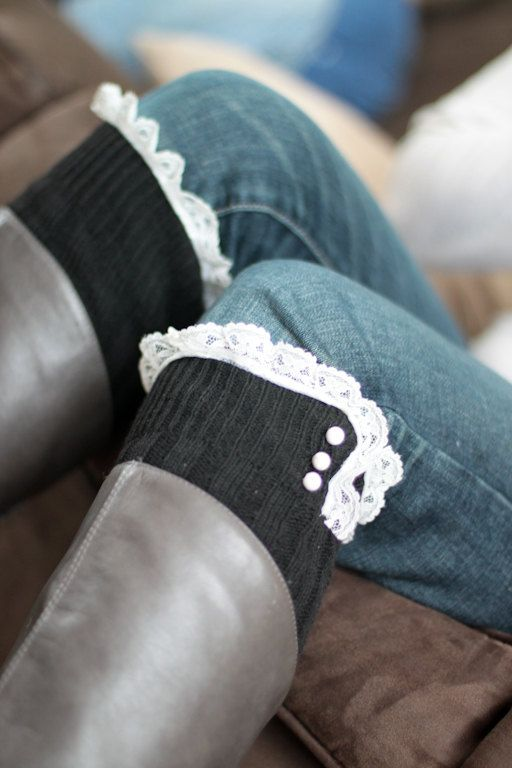 Boot Leg Warmers with Lace