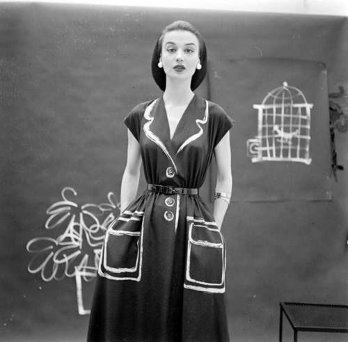 Dress by Hermes, 1952. Photo by Gordon Parks.