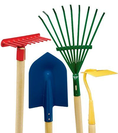 Childrens Wheelbarrow And Garden Tool Set - WoodWorking Projects & Plans
