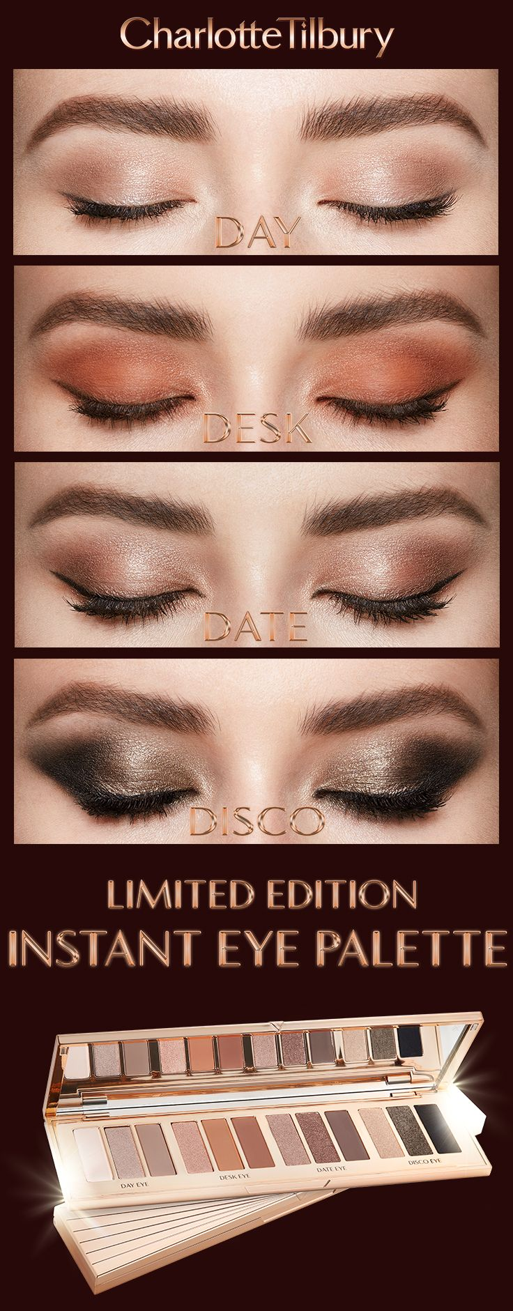 Darlings, this is for all seasons, all occasions! My Instant Eye Palette, inspired by my smokey eye legacy, is a REVOLUTIONARY control-pressed palette that will change the way you apply your eye makeup for perfect application EVERY TIME.