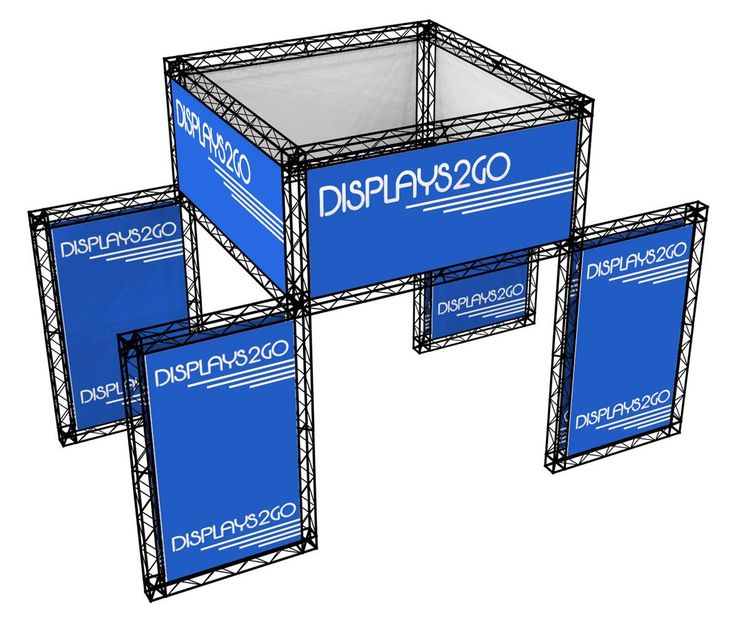 20' x 12' Trade Show Truss Booth & Header w/ Custom Graphics & Travel Cases - Black