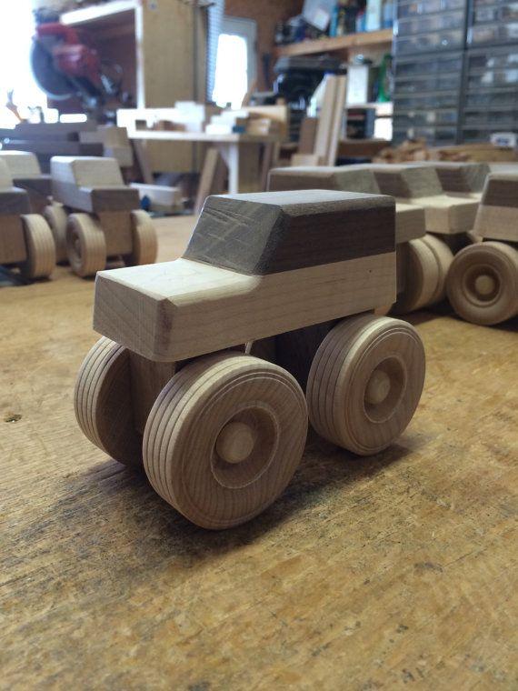 Handcrafted wood Monster trucks by KKRVenturesLLC on Etsy