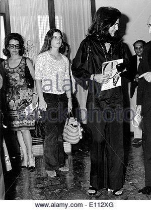 Jackie Onassis with daughter Caroline June 11, 1975 - Skorpios Island, Greece - during their holidays in Greece.