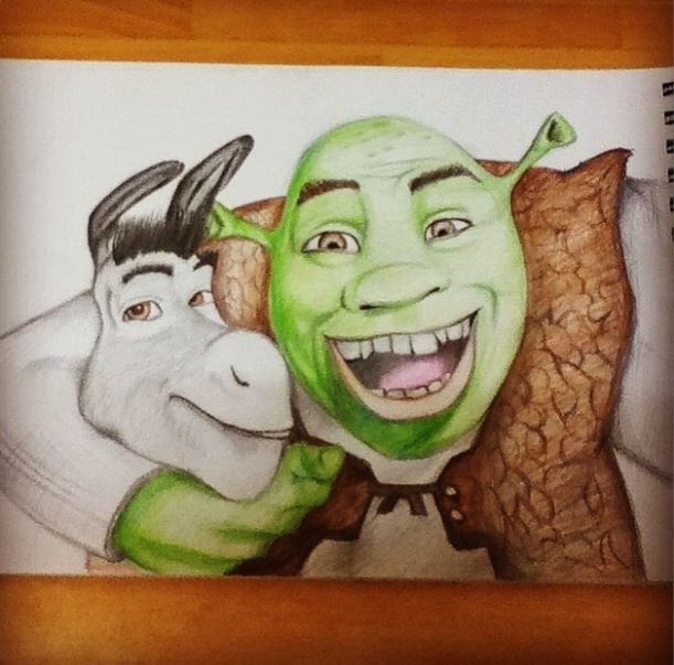 Shrek And Donkey Drawing