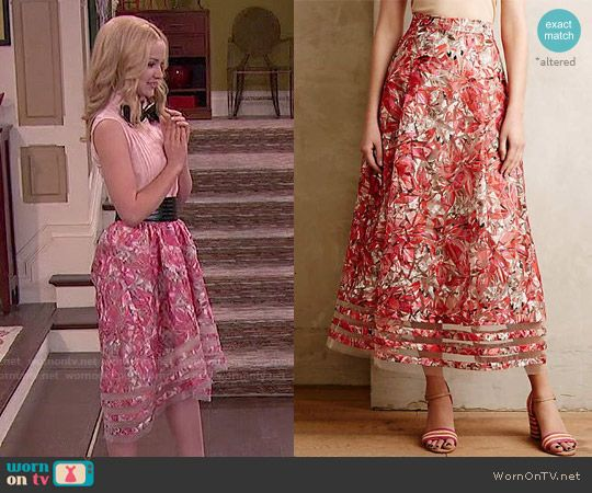 Liv's floral high-low skirt on Liv and Maddie.  Outfit Details: http://wornontv.net/51134/ #LivandMaddie (altered)