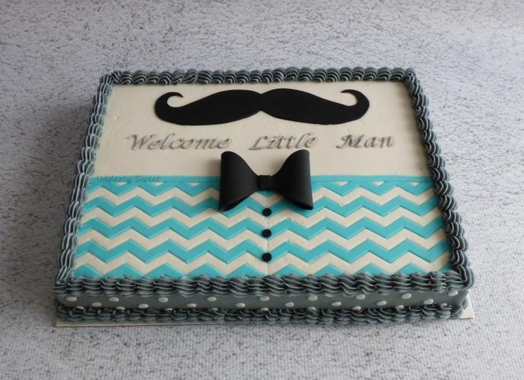 Beautiful Mustache Baby Shower Cake   Cake By Michelle More