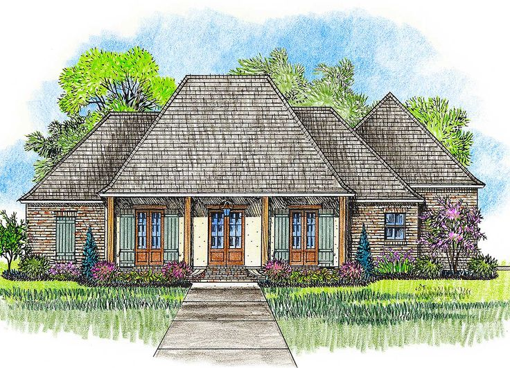 acadiana home design. Plan 56379SM  Acadian House With Great Rear Porch House Plans And Architectural Design