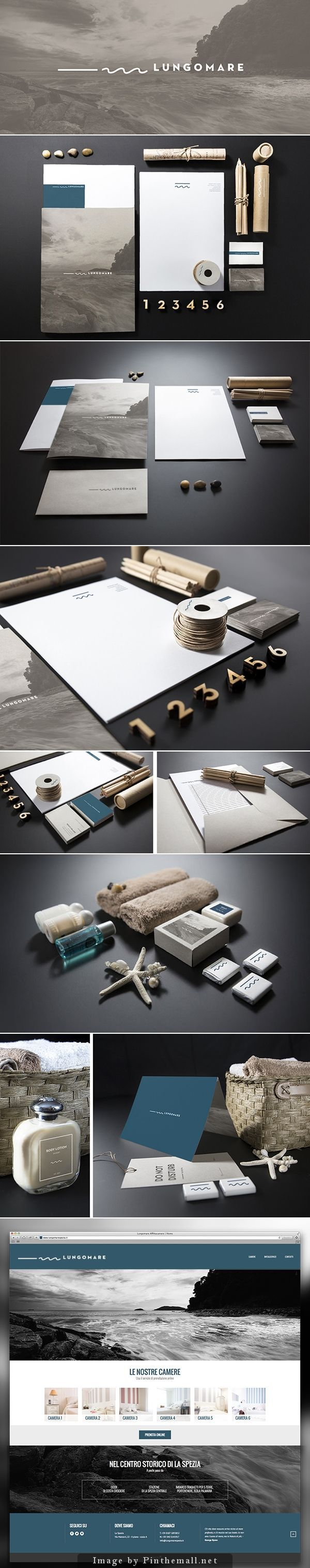 Lungomare: Branding: Identity: Color Scheme: Packaging: Colateral