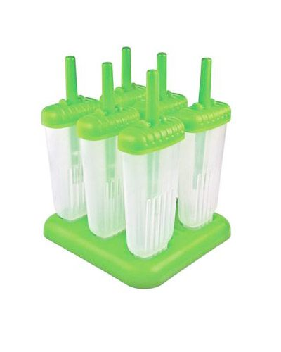 These smartly designed popsicle molds were created for the pops to slide out easily and for dripless enjoyment with large drip guard handles. The base will store the pop molds securely, protecting against tips and spills in the freezer.
