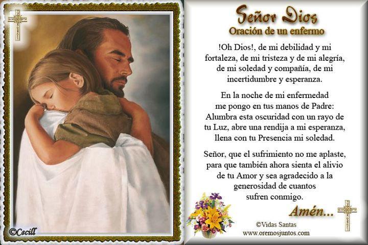 oracion de los enfermos | Rincón de la Oración: Estampa Oración de un enfermo para pedir su ...