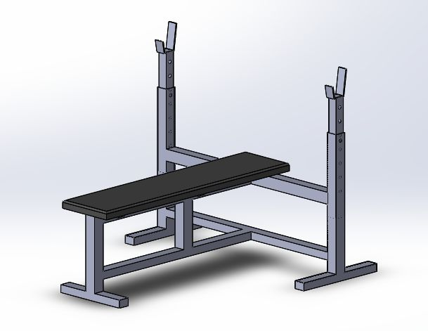 Тренажер жим лежа | Игровое оборудование, тренажеры, спорт | Чертежи в масштабе.ру