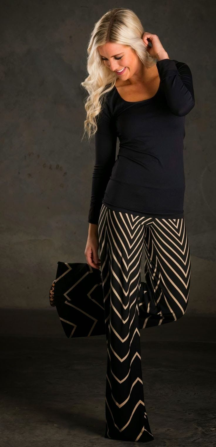 Chevron Palazzo Black Pant……I would love this but think I am too short.