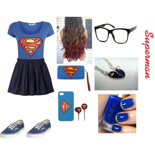 """Superman outfit"" by jenna-bo-benna on Polyvore"