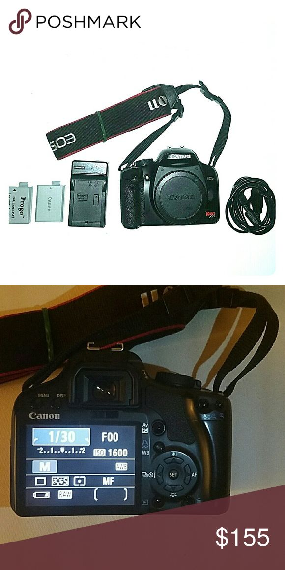 Canon Xsi camera 12MP photos Used camera but in great condition didn't use very much, and have only taken around 4.5k photos with it so the sensor still has a lot of life left, it is a 12MP camera, included are 2 batteries a charger, a 1gb memory card, it's lanyard, no lens will be included Canon Other
