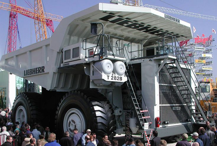 The Liebherr T282  I guess You don't want to have one of them. But maybe You like to have the little version of rc monster trucks from rc blog. But if It's just a matter of riding that I guess You will love to try one of those biggest trucks in the world.