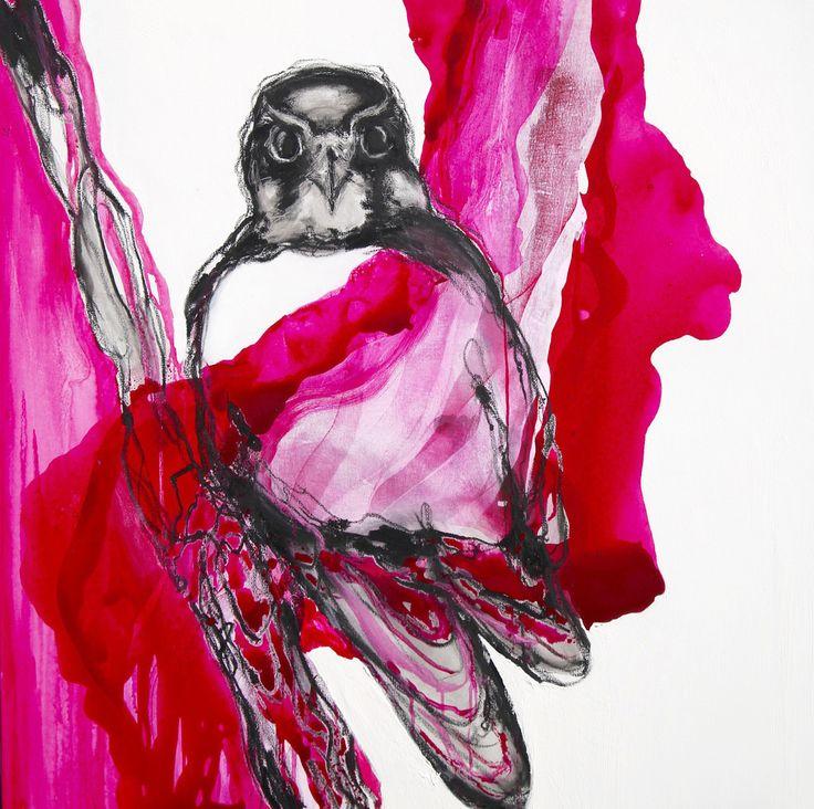 https://flic.kr/p/A5VTQd | Falcon, magenta | Oilstick and acrylic on canvas