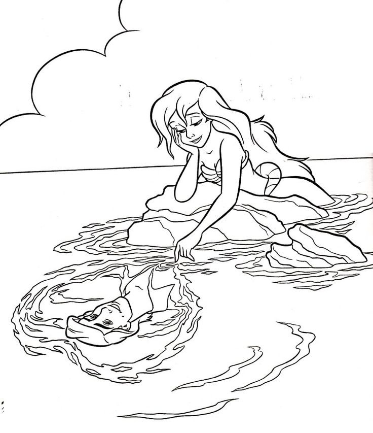 182 best Little Mermaid Colouring page images on Pinterest ...
