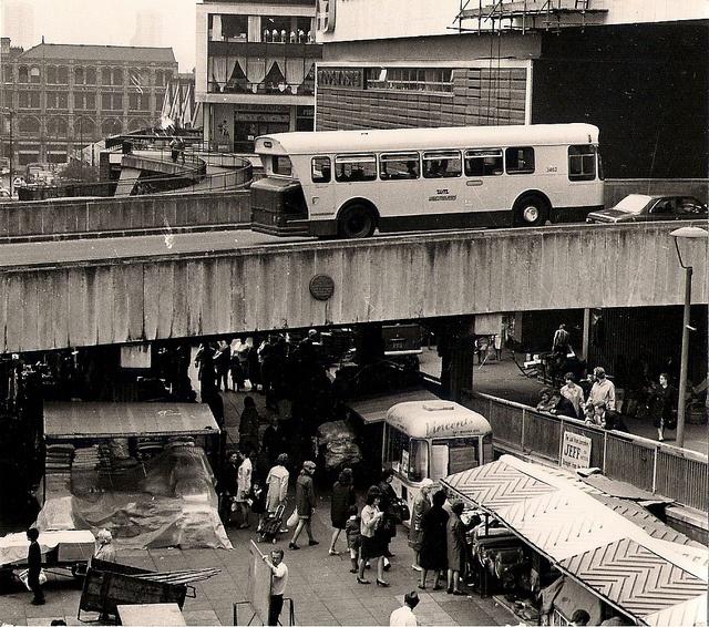 Bull Ring open market, St Martin's, Birmingham, 1973 by Lady Wulfrun, via Flickr