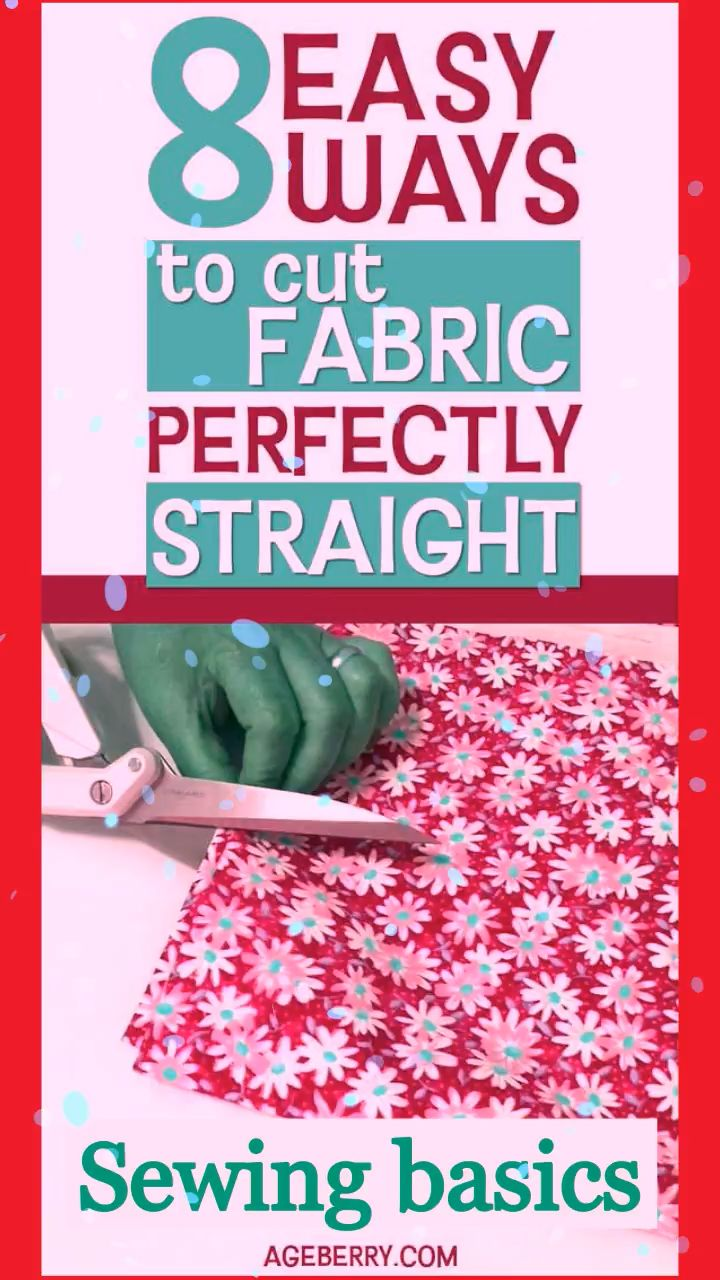 Sewing basics: how to cut fabric perfectly straight – DIY