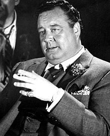 """Jackie Gleason - 1966  John Herbert """"Jackie"""" Gleason (February 26, 1916 – June 24, 1987) was an American comedian, actor, and musician who developed a style and characters in his career from growing up in Brooklyn, New York. He was known for his brash visual and verbal comedy style, exemplified by his character Ralph Kramden in the television series The Honeymooners."""