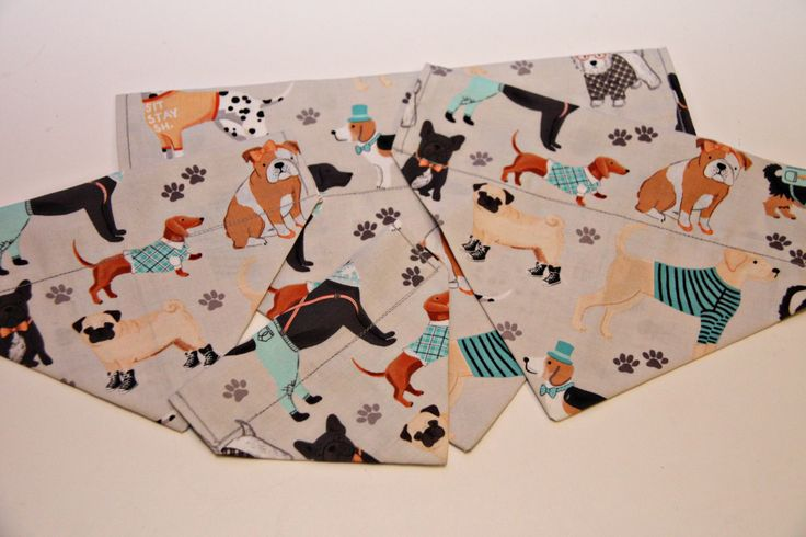 Hipster Dogs Dog Bandana/Cat Bandana/ No Tie Bandana by BonzaiGiftsPetNanny on Etsy