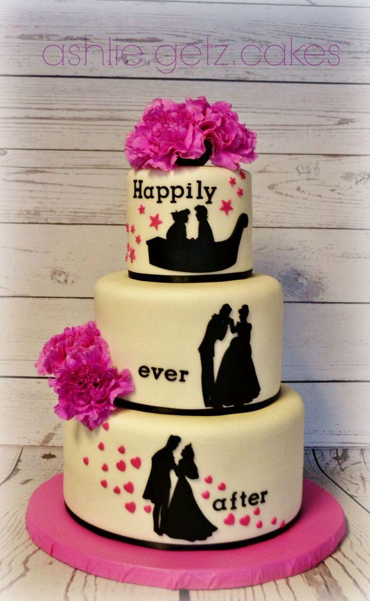 Princess Silhouette cake by ashlie.getz.cakes