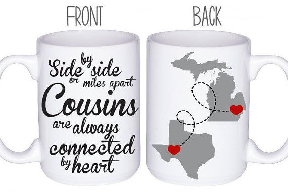 Cousins Mugs Coffee Mug Cousin Gift Idea by DoTakeItPersonally