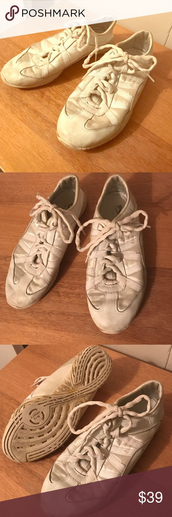 Nfinity cheer shoes Nfinity evolution cheer shoes🎉 Good condition, broken in, and super comfortable! Size 8. Clean and lightly used! Make an offer💓💰 Nfinity Shoes Athletic Shoes