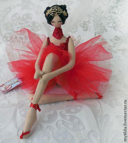 Коллекционные куклы ручной работы. Ярмарка Мастеров - ручная работа Балерина в красном. Handmade.