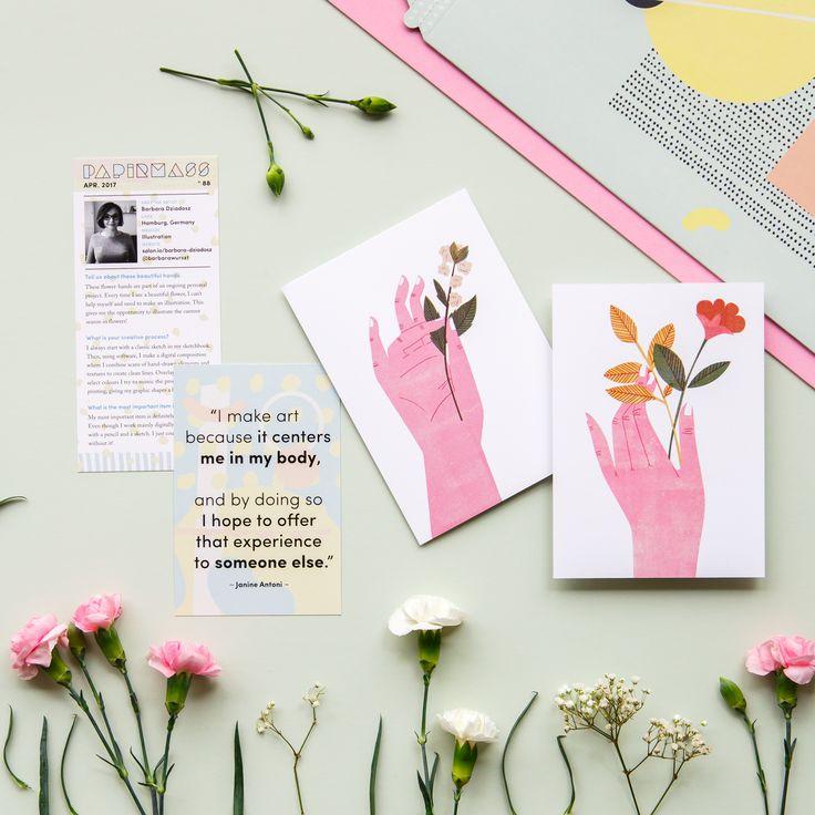 Papirmass Issue 88 featuring the work of artist Barbara Dziadosz mailed to subscribers April 2017  #papirmass #artsubscription #artwork #creativelife #happylife #artinthemail #art #artprint #subscriptionbox